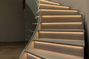 Moleanos Honed Limestone Staircase