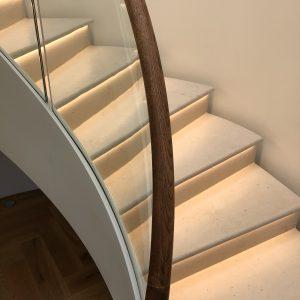 Moleanos Honed Limestone Staircase
