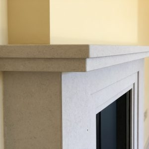 Fossil Pearl Limestone fire surround