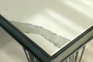 Statuario Quartz Tabletop close up