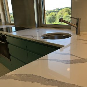 Statuario Quartz Kitchen Worktop