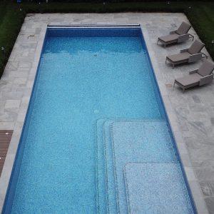 Georgian Grey Antiqued Outdoor Swimming Pool surround.