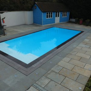Tichborne and Cheriton Outdoor Swimming Pool, Overflow Deck Level Pool.