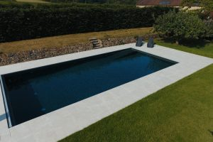 Wilton Beige Outdoor Swimming Pool Non slip Porcelain pool terrace.