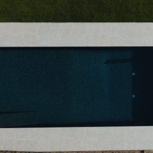 Wilton Beige Outdoor Swimming Pool - Bird's Eye View, Slip Resistant Porcelain pool terrace.