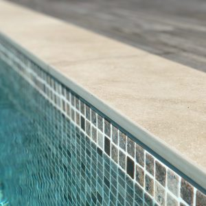 Sirmione Pencil Edge non slip Porcelain pool Coping.